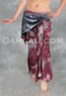 Tie-dye belly dance pants with attached hip wrap for tribal dance, troupes and dance practice.