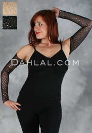 NAJWA SPARKLE HOLOGRAPHIC Micro Mesh Shrug by Off the Nile