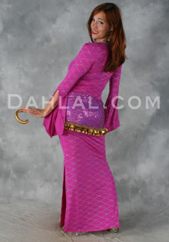 Diamond Wave Fuchsia Aziza Dress