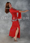 Red Diamond Wave Aziza Dress