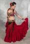 Tribal belly dance bra and belt set