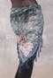 Slate MYSTIC MOONLIGHT Burnout Velvet Beaded Peacock Shawl