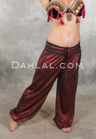 SAHARA STARDUST Metallic Red Harem Pants - Only 1 Left!