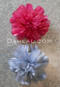 pink and silver hair flower