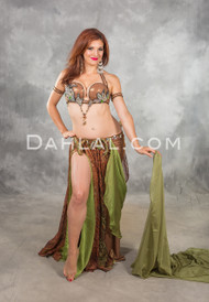 SERPENTINE SEDUCTRESS in Copper, Black, Silver and Green,  Bra Size C #4, by Designer Eman Zaki of Egypt