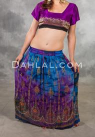 Sequin Embellished Lotus Drawstring Skirt