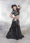 Black Gilded Lily Skirt