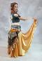 Gold Charmeuse Skirt