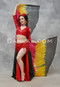 Red and Black Lightweight Satin Skirts
