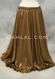 metallic chiffon belly dance skirt