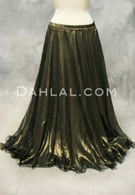 metallic gold chiffon belly dance skirt