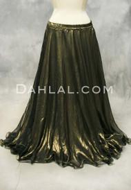 metallic gold chiffon belly dance skirt