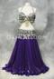 Purple Metallic Chiffon Skirt shown with Silver Coin Bra and Belt Set