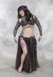 Metallic Chiffon Skirt shown with Retro Lace Tribal Belt