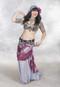 Silver Metallic Chiffon Skirt shown in Tribal Fusion Style