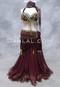 Wine Metallic Chiffon Skirt