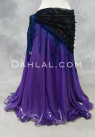 Purple Metallic Chiffon Skirt