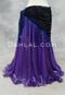 Purple Metallic Chiffon Skirt