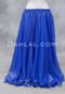 Royal Blue Metallic Chiffon Skirt