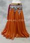 Orange Metallic Chiffon Skirt