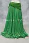 Kelly Green Metallic Chiffon Skirt