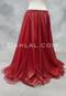 Red Metallic Chiffon Skirt