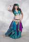 Teal Metallic Chiffon Skirt shown with Sari Handkerchief Skirt