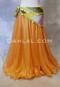 Golden Rod Metallic Chiffon Skirt