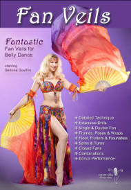 Fantastic Fan Veils for Belly Dance Starring Sedona Soulfire