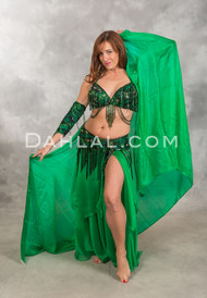 GATES OF EDEN in Green and Black in a Bra Size C #4,  Turkish Belly Dance Costume