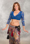 blue lace choli top