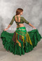 Back View of Green Choli