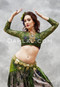 green lace choli top