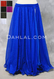 Royal Blue Glitter Chiffon Skirt
