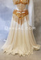 Gold Glitter on White Chiffon Skirt
