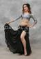 Black Glitter Chiffon Skirt