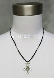 Tuareg Beaded Necklace with Agadez Cross Pendant
