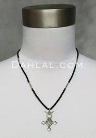 Tuareg Beaded Necklace with Agadez Cross Pendant