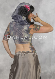 GYPSY DANGER Underbust Vest with Hood by Off The Nile, Belly Dance Top