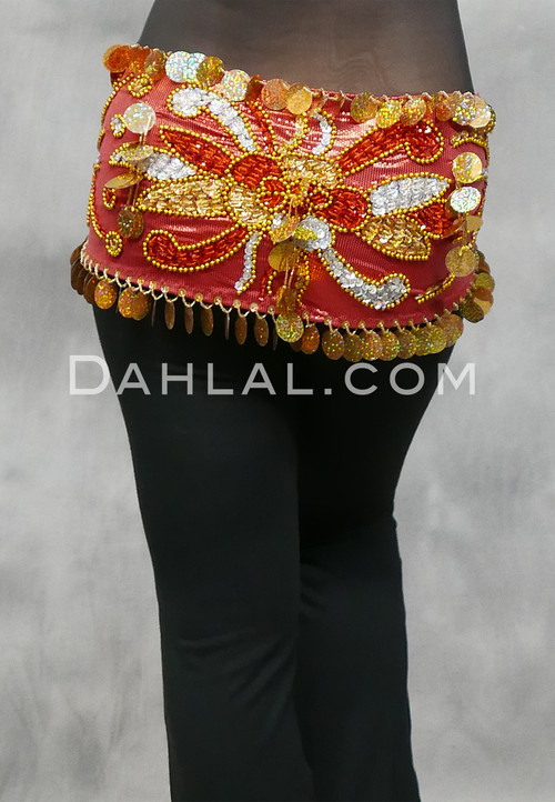 Egyptian Beaded Paillette Hip Scarf