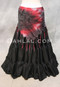 Fire Dancer in Red And Black Shown with Extra Full Tribal Skirt