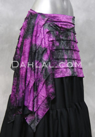 Ruffle wrap for belly dance