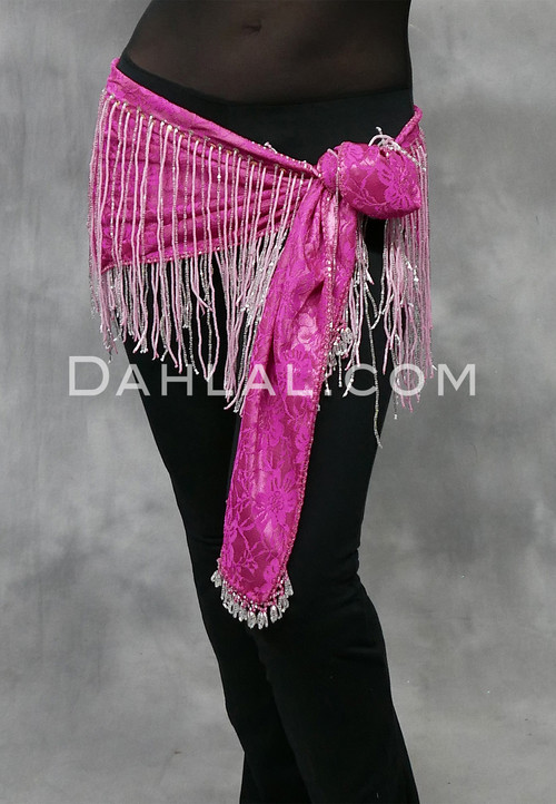 Pink with Silver Fringe