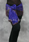 Front View of Purple Hip Scarf