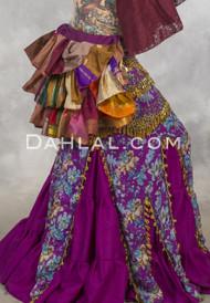 SUNBURST Vintage Sari Bustle Wrap Skirts