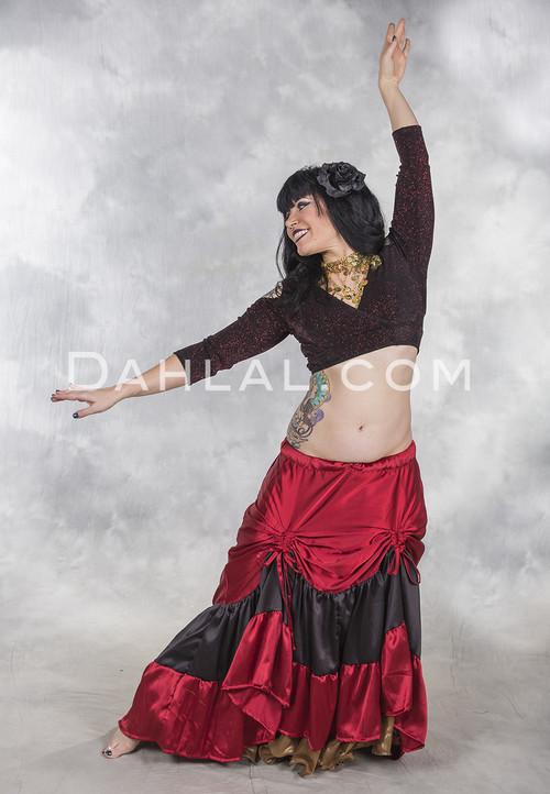 victorian charmeuse skirt