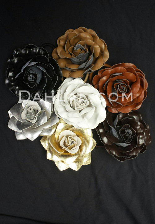 Faux Leather hair flower
