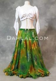 Egyptian belly dance chiffon skirt