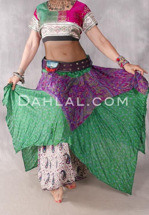 Vintage Sari Handkerchief Skirt