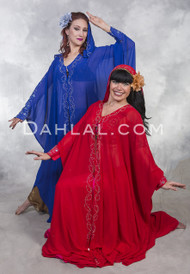 RHINESTONE STUDDED ABAYA Open Style Cover-Up - 4 Colors Available